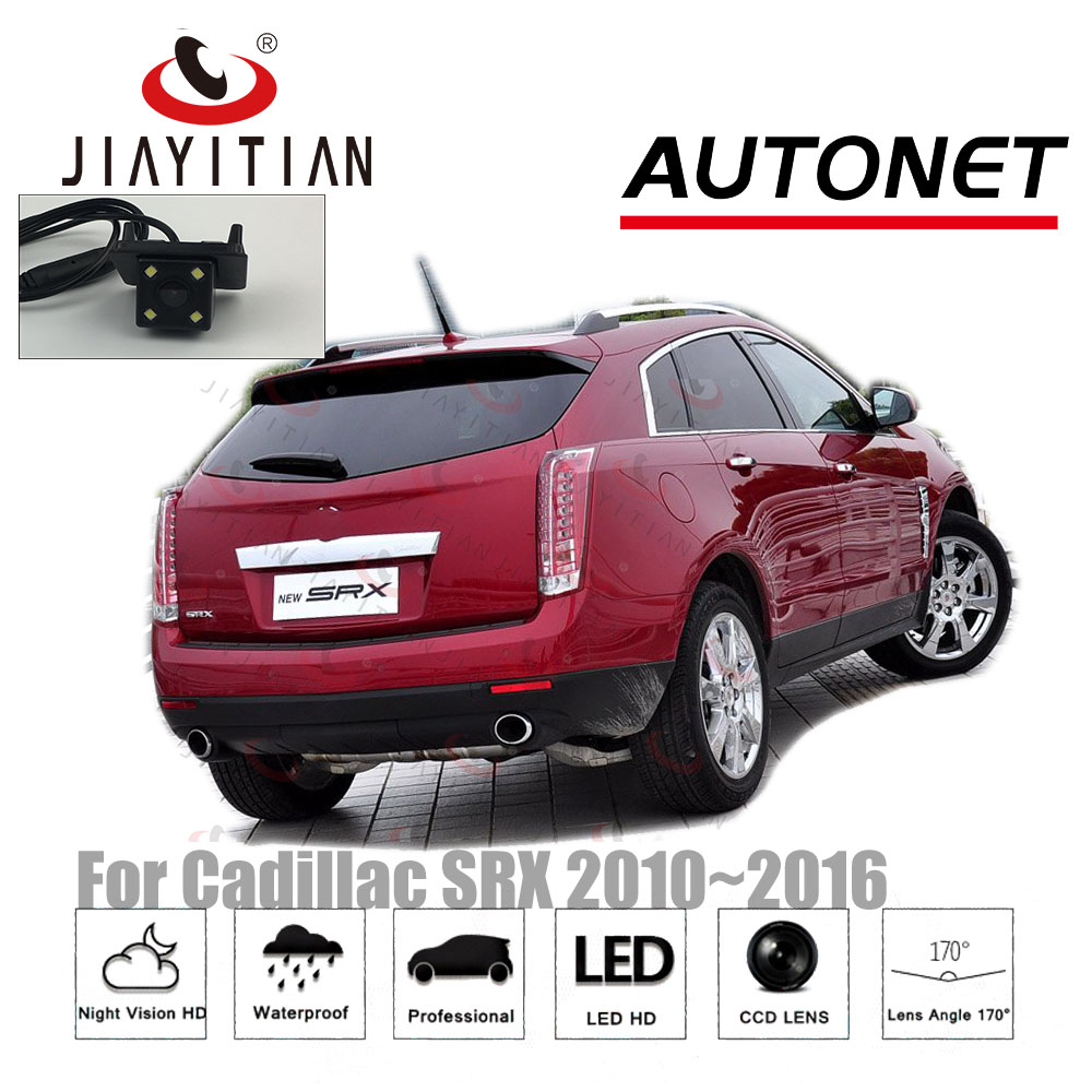 JiaYiTian Videocamera vista posteriore Per Cadillac SRX 2010 ~ 2016 srx riservato foro CCD di Visione Notturna Inverso della macchina fotografica di Backup Riservato foro