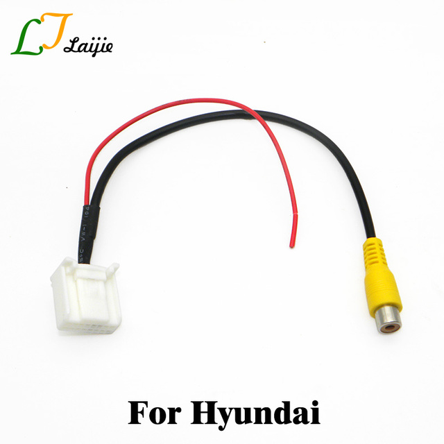 Auto RCA In 16 Pin Interface Kabel Adapter Voor Hyundai Elantra/Avante/Santa Fe/Achteruitrijcamera Originele Video Input Plug