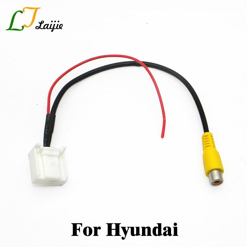 Car RCA Into 16 Pin Interface Adapter Cable For Hyundai Elantra / Avante / Santa Fe / Rear View Camera Original Video Input Plug