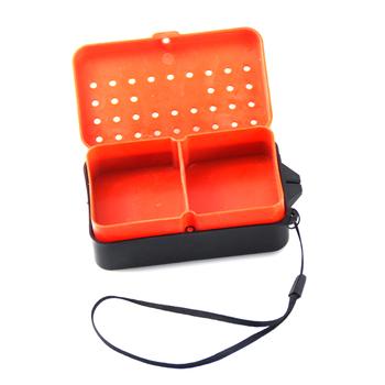 1 2 sztuk przedziały pudełko rybackie 10*6*3 2 Cm z tworzywa sztucznego Earthworm przynęta przynęty odpowiednio zaplanować podróż pojemnik wędkarski akcesoria X093 tanie i dobre opinie Morze łodzi rybackich orange lure box fishing box