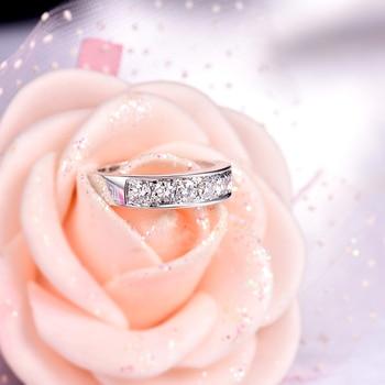 18K Diamonds  White Gold wedding Band 4