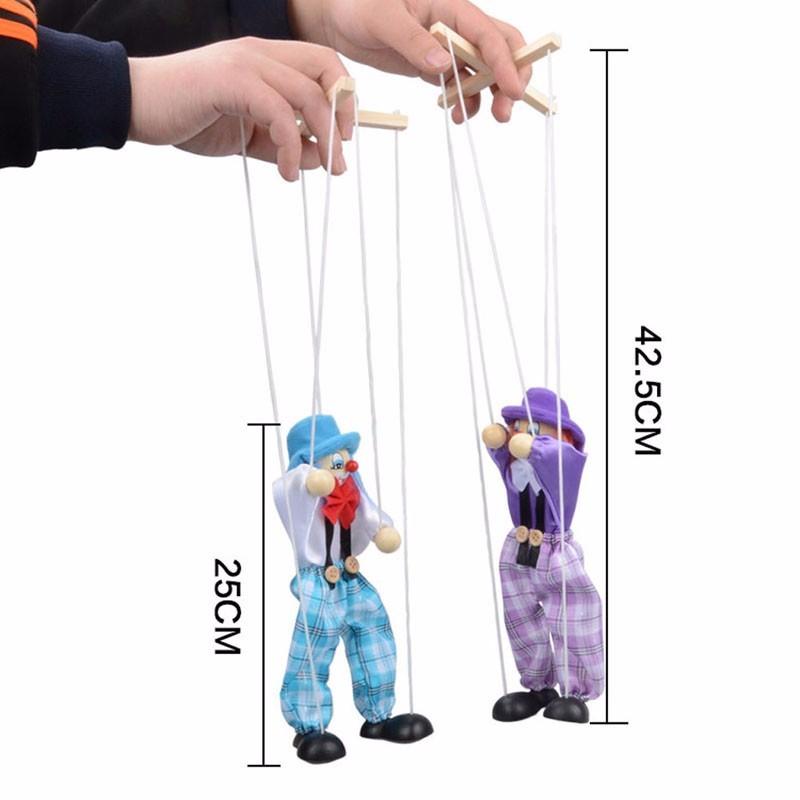 новый тянуть строка кукольный клоун деревянный кукольный совместных деятельности кукла винтаж детская игрушка