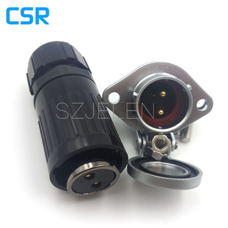 WP20,Industrial connector, 2-pin electrical equipment power panel mount connector, rated current 25A, Electric Power Connector connector 2143316 2 connector