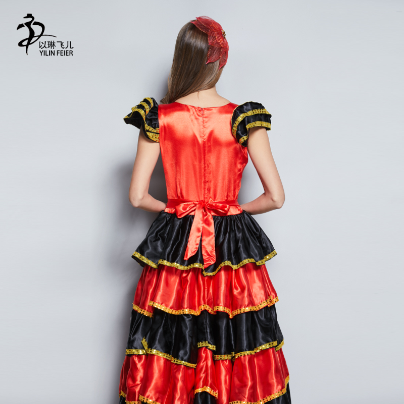 a5a550ebe Falda flamenca 360 disfraz de bailarina flamenca Senorita española ...