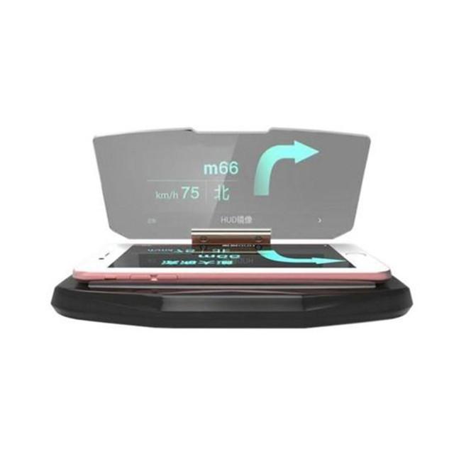 HUD Exibição Suporte de Navegação GPS Para Smartphones Suporte Suporte Do Telefone Celular Seguro Adsorção Suporte para Carro Para O telefone MP3 GPS DVR