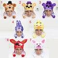 7 estilos fnaf Cinco Noches En Freddy juguetes cosplay sombrero de peluche suave cap Freddy Foxy Chica Mangle fnaf Bonnie casquillo de la felpa juguetes figuras