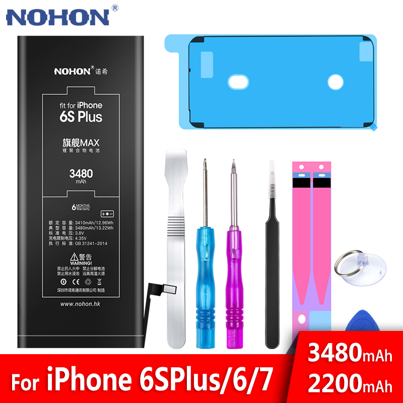 NOHON Battery For Apple iPhone 6S Plus 6 7 6SPlus iPhone6 iPhone7 6G 7G High Capacity Replacement Bateria Mobile Phone Batteries iphone