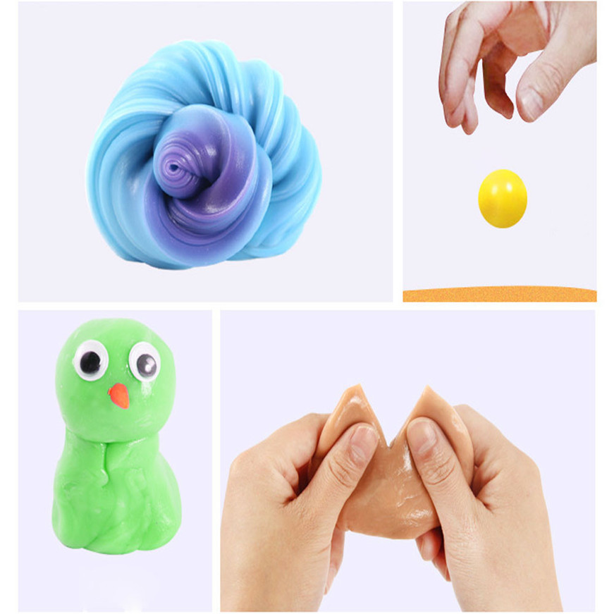 Sozzy A# DROPSHIPPING1PC Cute UV Discoloration Rubber Mud Slime Putty Scented Tub Stress Relief No Borax toy