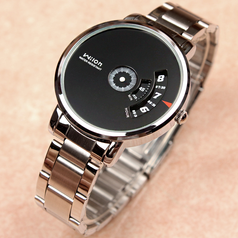 Fashion WILON Personality Brand Quartz Full Stainless Watch Casual watches Sports black white Clocks Without needle WristwatchesFashion WILON Personality Brand Quartz Full Stainless Watch Casual watches Sports black white Clocks Without needle Wristwatches