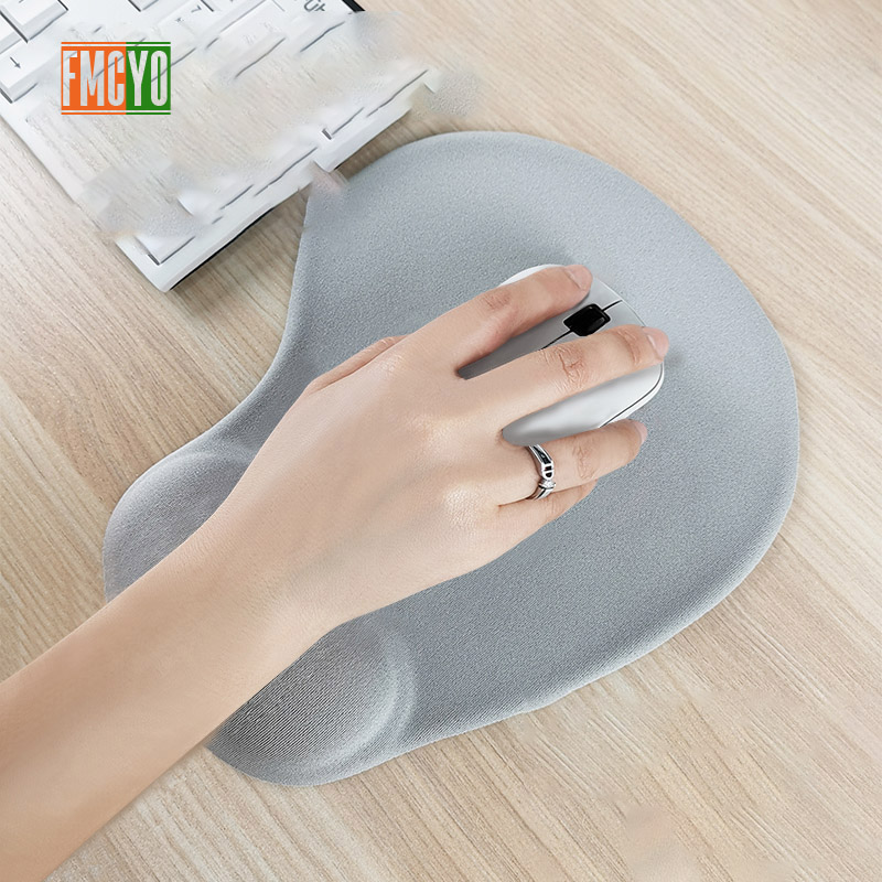 Image 2 - Solid color mouse pad wristband creative memory silicone office hand pillow mouse hand support 3d wrist pad mouse pad small simp-in Mouse Pads from Computer & Office