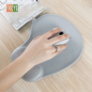Image 2 - Solid color mouse pad wristband creative memory silicone office hand pillow mouse hand support 3d wrist pad mouse pad small simp