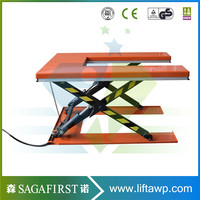 electric hydraulic U shape scissor lift used for pallet lifting customized acceptable