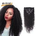 Brazilian Kinky Curly Virgin Hair Clip in Human Hair Extensions Afro Kinky Curly Hair Brazilian Kinky Curly Human Hair Clip in