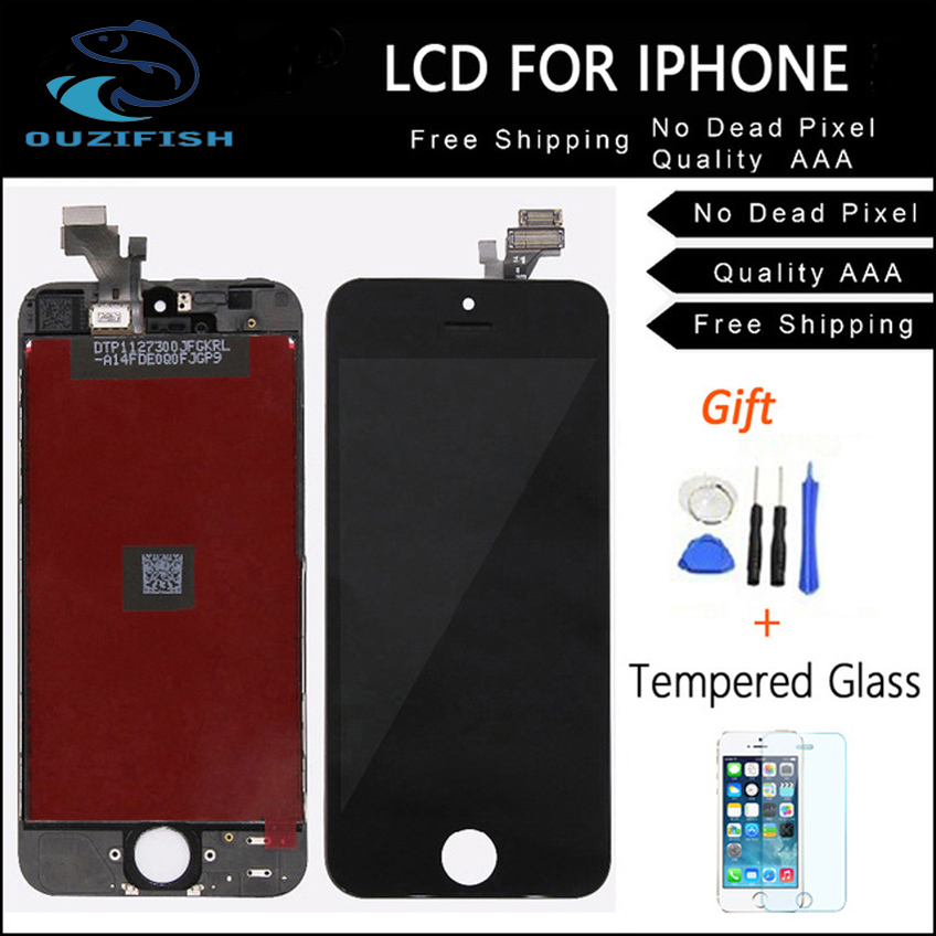 OUZIFISH Replacement Screen LCD For iPhone 6 6S PLUS Display With Digitizer Touch Screen Assembly White Black LCD for iphone6 6S
