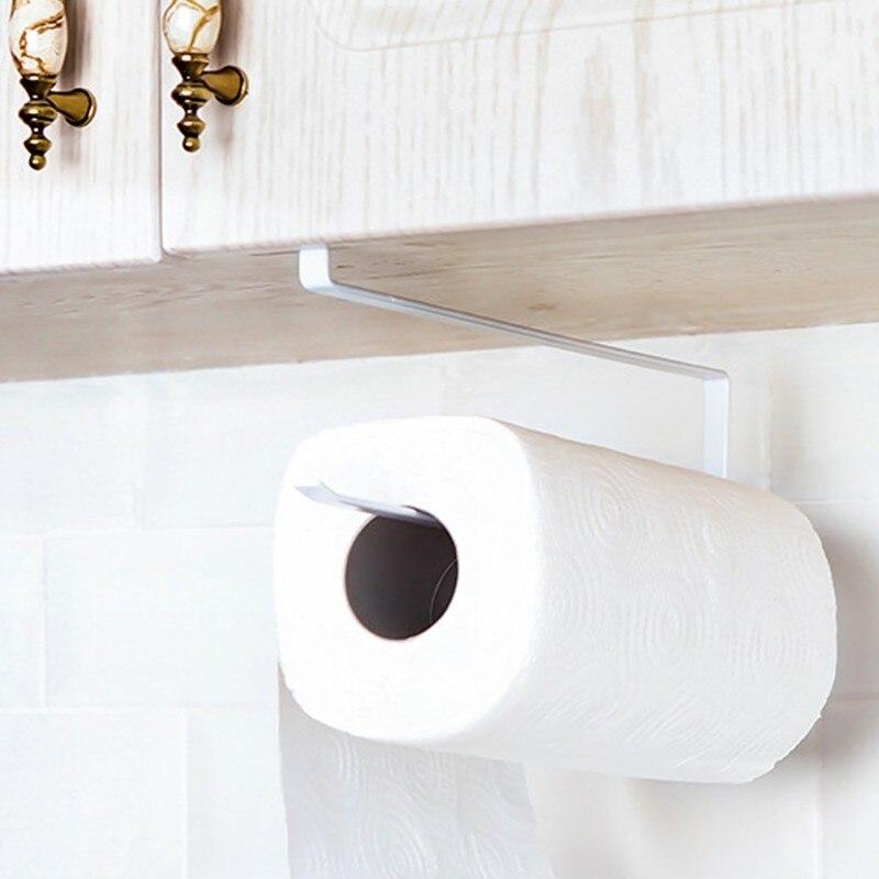 Neue Eisen Küche Papierrollenhalter Hängen Badezimmer Toilettenpapierrollenhalter Handtuchhalter Küche Schranktür Haken Halter