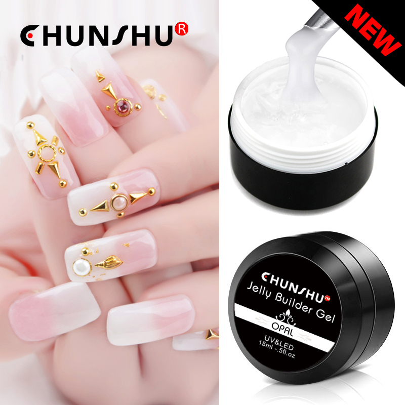 Chunshu 15ml Jelly Gel 8Color Builder French Constraction Extend Nail Art Polish Camouflage Hardcover Poly Gel Manufacturer DIY