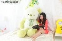 stuffed plush toy huge 160cm teddy bear soft plush toy green bear soft doll hugging pillow birthday gift s0392