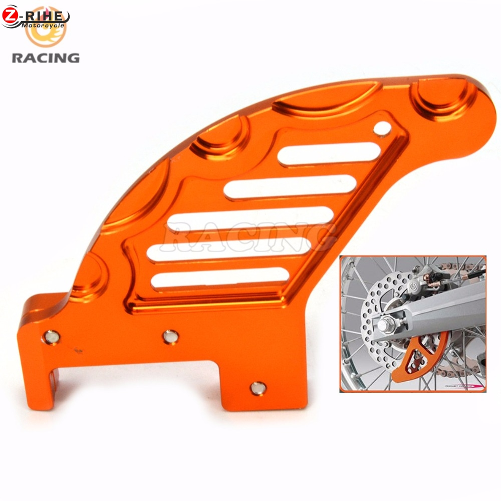moto Aluminum Billet Rear Brake Disc Guard Potector For KTM SX SXF XC XCW XCF EXC EXCF EXCR Motocross Dirt Bike Racing Enduro or 4 directions cnc foldable pivot brake lever for ktm exc excr xcw xcrw xc sr sxr xcf sx sxf excf xcfw six days enduro dirt bike