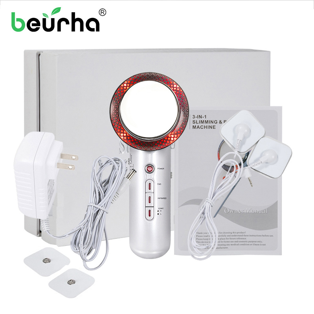 1 Mhz EMS Body Beauty Slimming Massager Ultrasound Cavitation Weight Loss Mechine Anti Cellulite Fat Burner Galvanic Infrared