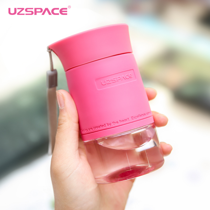 UZSPACE Fashion Water Bottles Portable Mini Lovely Girl Travel Sports Ecofriendly Plastic My Drink Bottle 200ML Tritan BPA Free