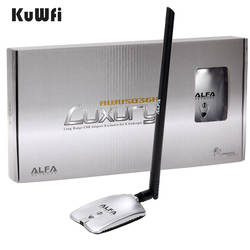 AWUS036NH Роскошные Альфа адаптер сети Ralink3070L 2,4 ГГц высокое Мощность Беспроводной USB Wifi адаптер 2 * 8dBi антенны с длинными диапазон