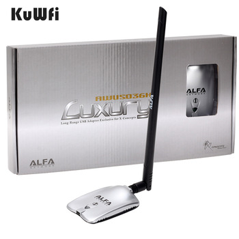 AWUS036NH LUXURY ALFA Adapter Network Ralink3070L 2.4Ghz High Power Wireless USB Wifi Adapter 2*8dBi Antenna With Long Range