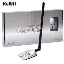 AWUS036NH LUXURY ALFA Network Ralink3070L 2 4Ghz High Power Wireless USB Wifi Adapter 2 8dBi Antenna