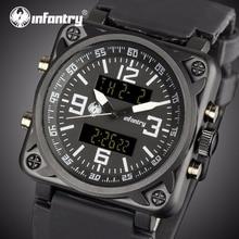 Для пехоты Мужские часы от топ бренда, роскошные аналоговые цифровые военные часы Для мужчин большие спортивные армейские часы для Для мужчин квадратный Relogio Masculino