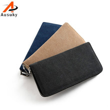 Fashion Luxury Brand Men Wallets Long Purse Wallet Male Clutch Cavans Business Coin 40