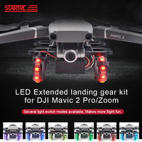 STARTRC For DJI Mavic 2 Pro Drone Colorful LED Extended Landing Gear for For DJI Mavic 2 Pro Zoom Drone Accessories Night Flying