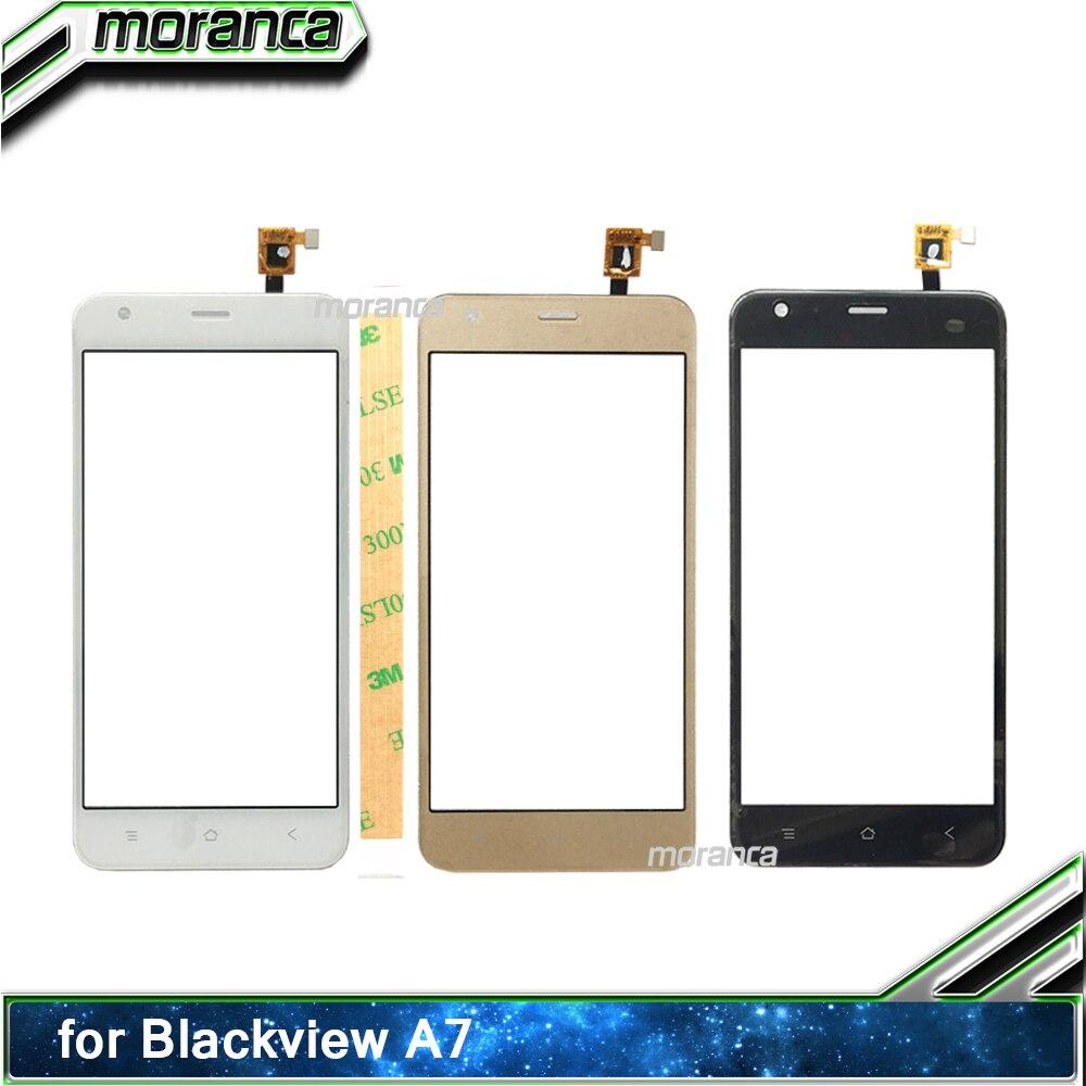 """""""sensor de Toque Tela do Telefone Móvel para Blackview Frontal plus 3 5.0 Digitador da Tela de Toque do Telefone a7 Touchscreen Lente Vidro Painel m Adesivo"""