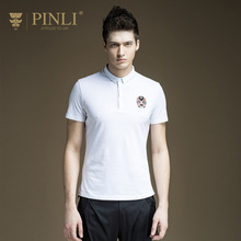 Polo Homme Hot Sale Pinli Product 2017 Summer New Men's Chinese Style Embroidered Short Sleeved Polo Shirt Primer B172312157