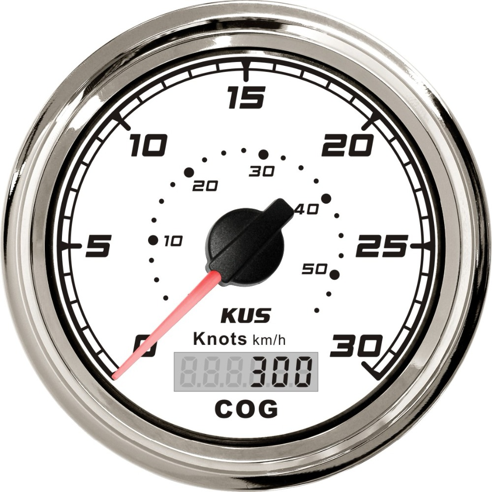 KUS GPS Speedometer 0 30Knots Speed Gauge For Boat Yachts 85mm 12V 24V SQ Series
