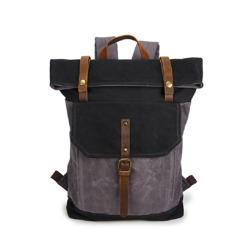 M230 Vintage Oil Wax Canvas Backpack Men Waterproof Travel Shoulder Bag 2019 High Quality Fashion Student Laptop Male BackpackM230 Vintage Oil Wax Canvas Backpack Men Waterproof Travel Shoulder Bag 2019 High Quality Fashion Student Laptop Male Backpack