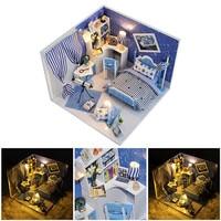 Flever Dollhouse Miniature Kit FAI DA TE Casa Creativa Camera Puzzle Con Mobili e Copertura Modello Assemblato Giocattolo per il Regalo Dei Bambini