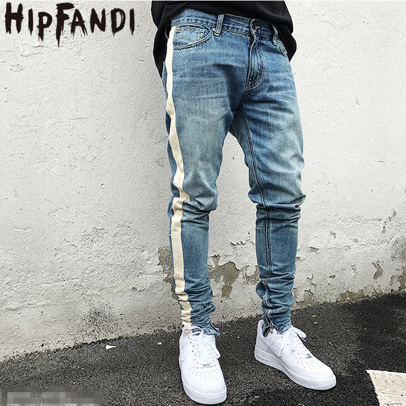 huge selection of 18afb 0c538 US $29.7 35% OFF|2019 New Arrivals fashion mens jeans pants cool blue  jogger damage jeans rock star High Quality Casual skinny jeans For Men-in  Skinny ...