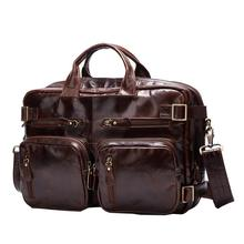 Genuine Leather Men Travel Bag Multifunctional Back Big Bag Luggage Laptop Duffle Bag Crossbody 2017 Suitcase