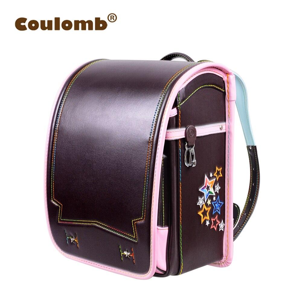 Кулоновского Принцесса Звезда рюкзак для девочки школьная сумка ортопедические Randoseru японский PU Hasp Водонепроницаемый детские книги Сумки