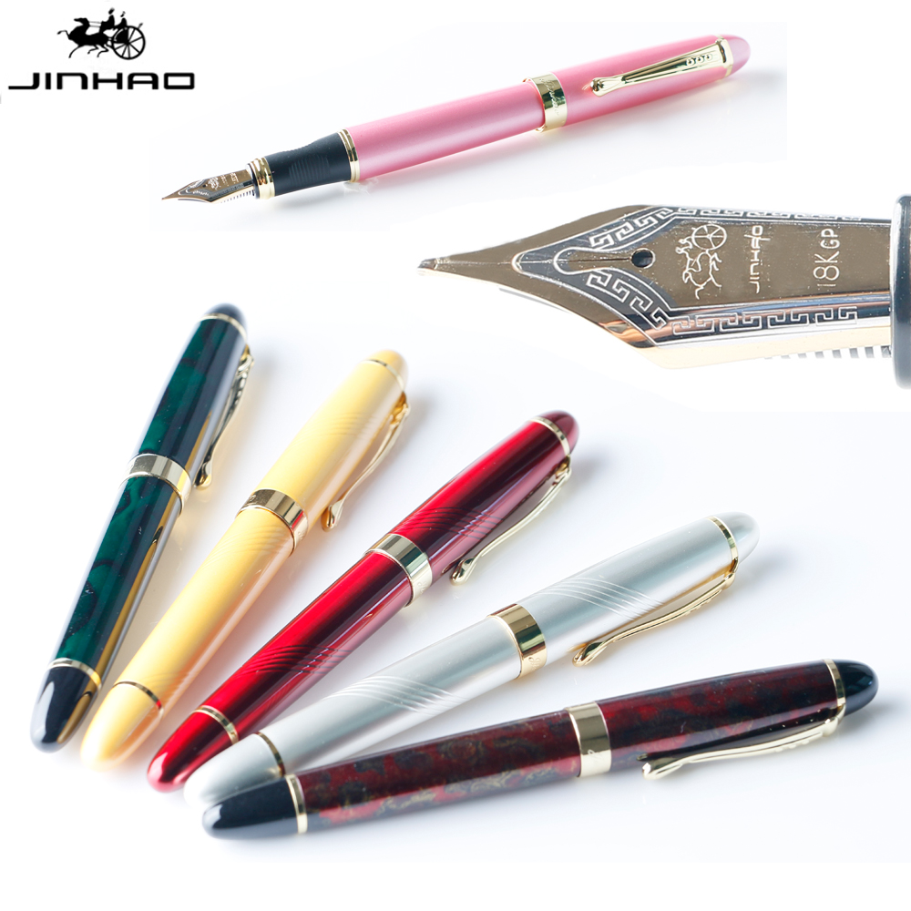 JINHAO X450 Iraurita Metal Fountain Pen Luxury Gold Clip 0.5MM MB Nib Calligraphy Ink Pens for Writing School Office Stationery 1pcs iraurita fountain pen metal luxury pens jinhao stationery office school supplies writing gifts ink hero calligraphy pen
