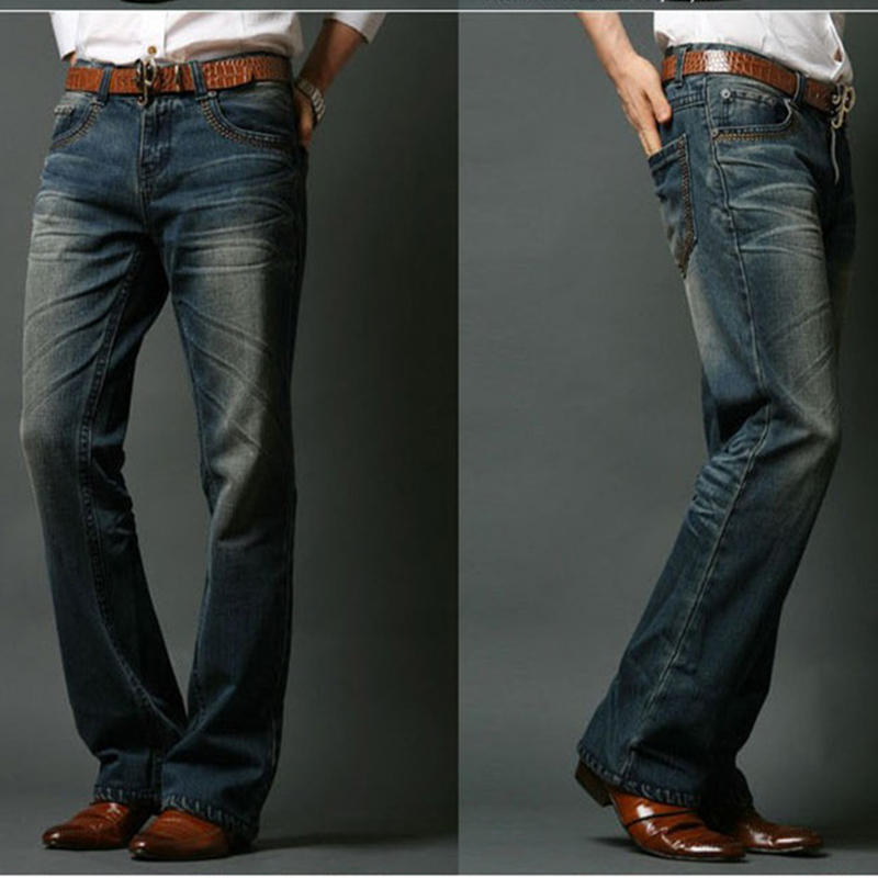 ICPANS Mens Flared Jeans Bootcut Boot Cut Jeans Men Leg Fit Classic Denim Flare Vintage Jeans Male Straight Pants