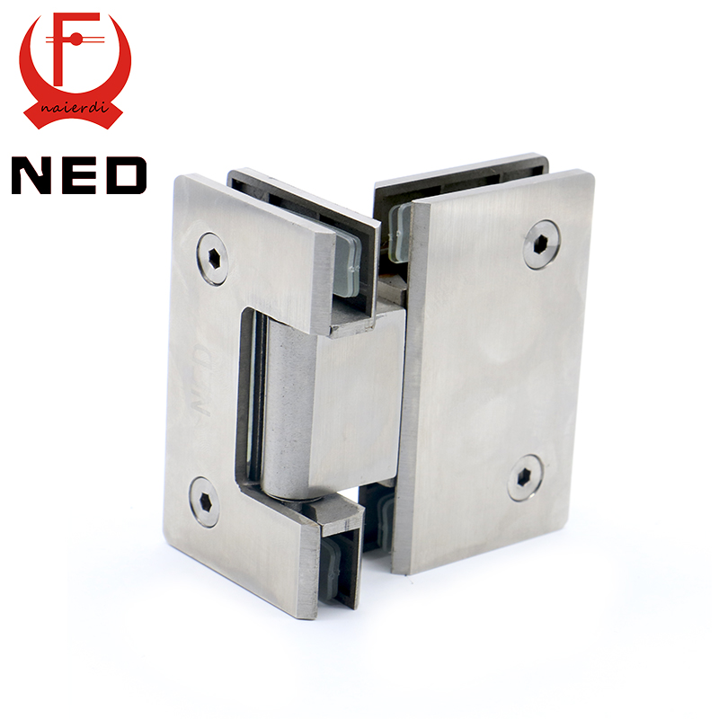 NED 4904 180 Degree Hinge Open 304 Stainless Steel Wall Mount Glass Shower Door  Hinges For Home Bathroom Furniture Hardware In Door Hinges From Home ...
