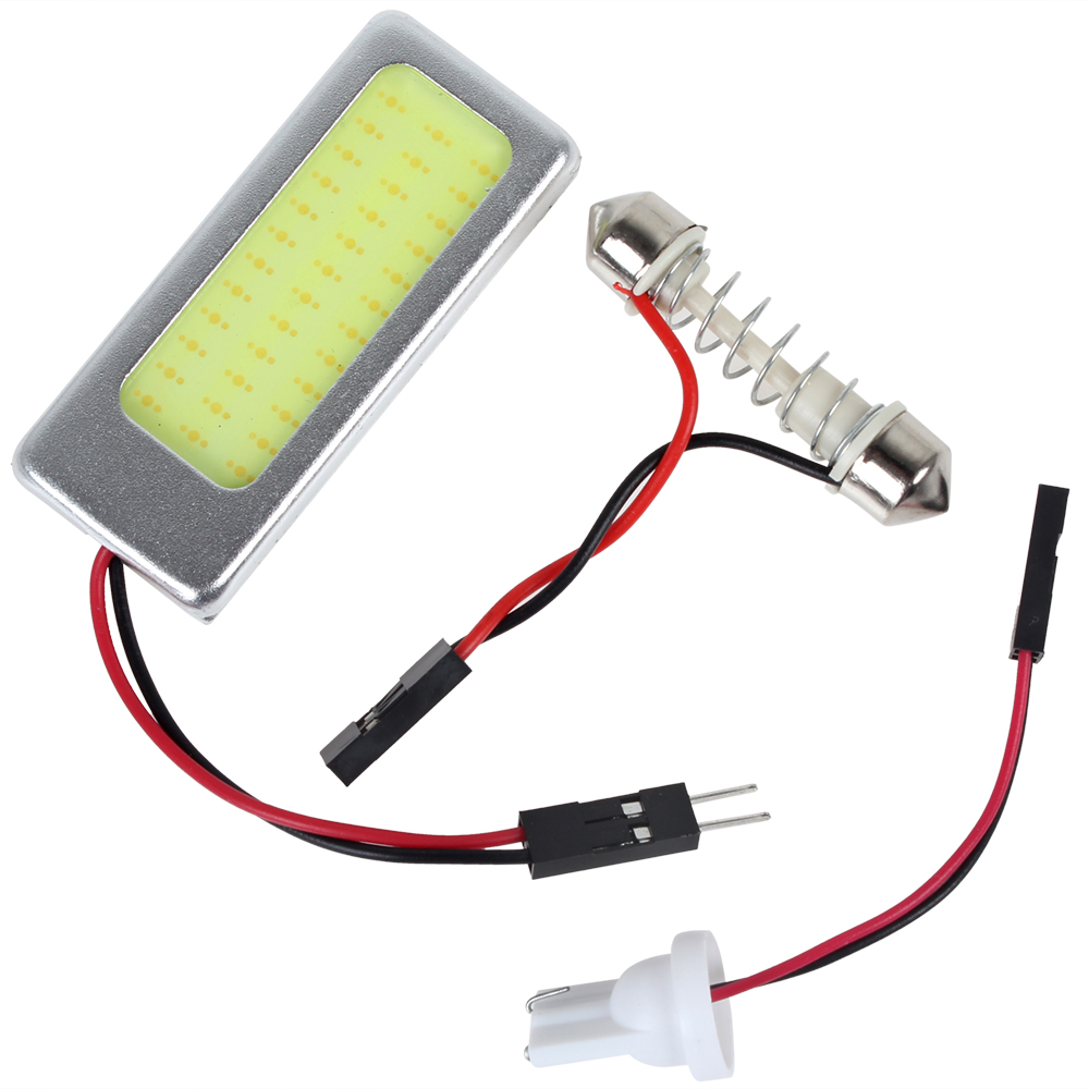 16W 12V COB White Light LED Car Reading Interior Panel Lamp With T10 Festoon Dome Adapter 1pcs 3205a 2rs1tn9 p5 25x52x20 6 3205 5205 3205rs 5205rs 3205 b 2hrs tvh 3056205 mochu double row angular contact ball bearings
