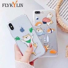 FLYKYLIN Cute Welsh Corgi Pembroke Shiba Inu Animal Dog Soft Silicon TPU Case Cover For iphone X 8 8Plus 7 7Plus 6 6S Plus Funda