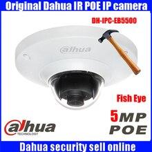original  Dahua DH-IPC-EB5500 5MP Full HD IP FISHEYE Camera Waterproof metal case  Mini IR IP Dome Camera  IPC-EB5500