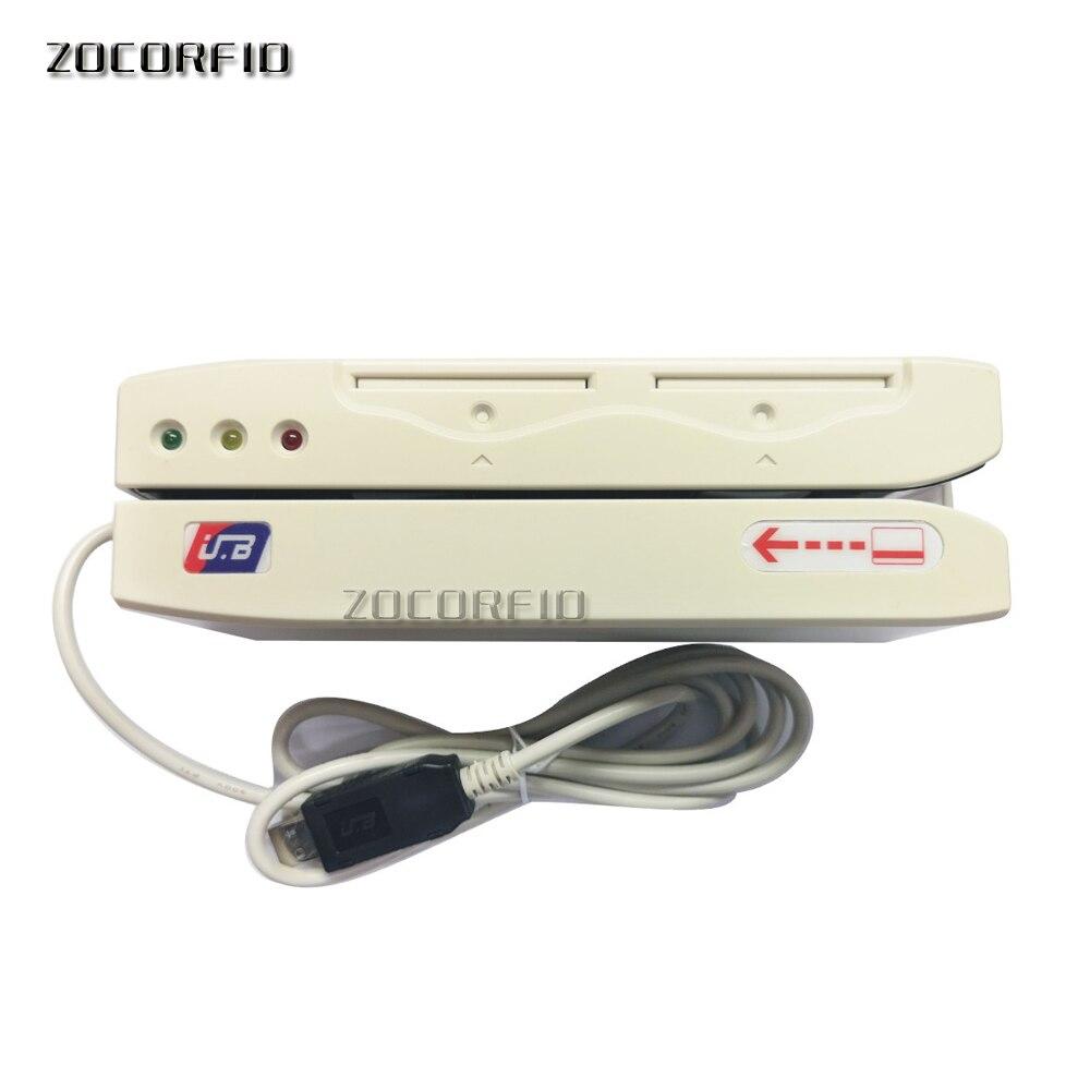 Porta USB A Doppio binario Hico 2750oE carta a banda Magnetica lettore scrittore/VIP di carte Magnetiche scrittore con il software in inglese