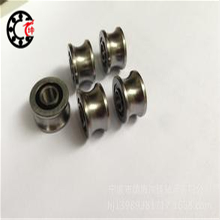 Free shipping 2 PCS SG66 U Groove pulley ball bearings 6x22x10mm Track guide roller bearing ABEC5 lfr5206 20 npp groove track roller bearings lfr5206 size 25 72 25 8mm