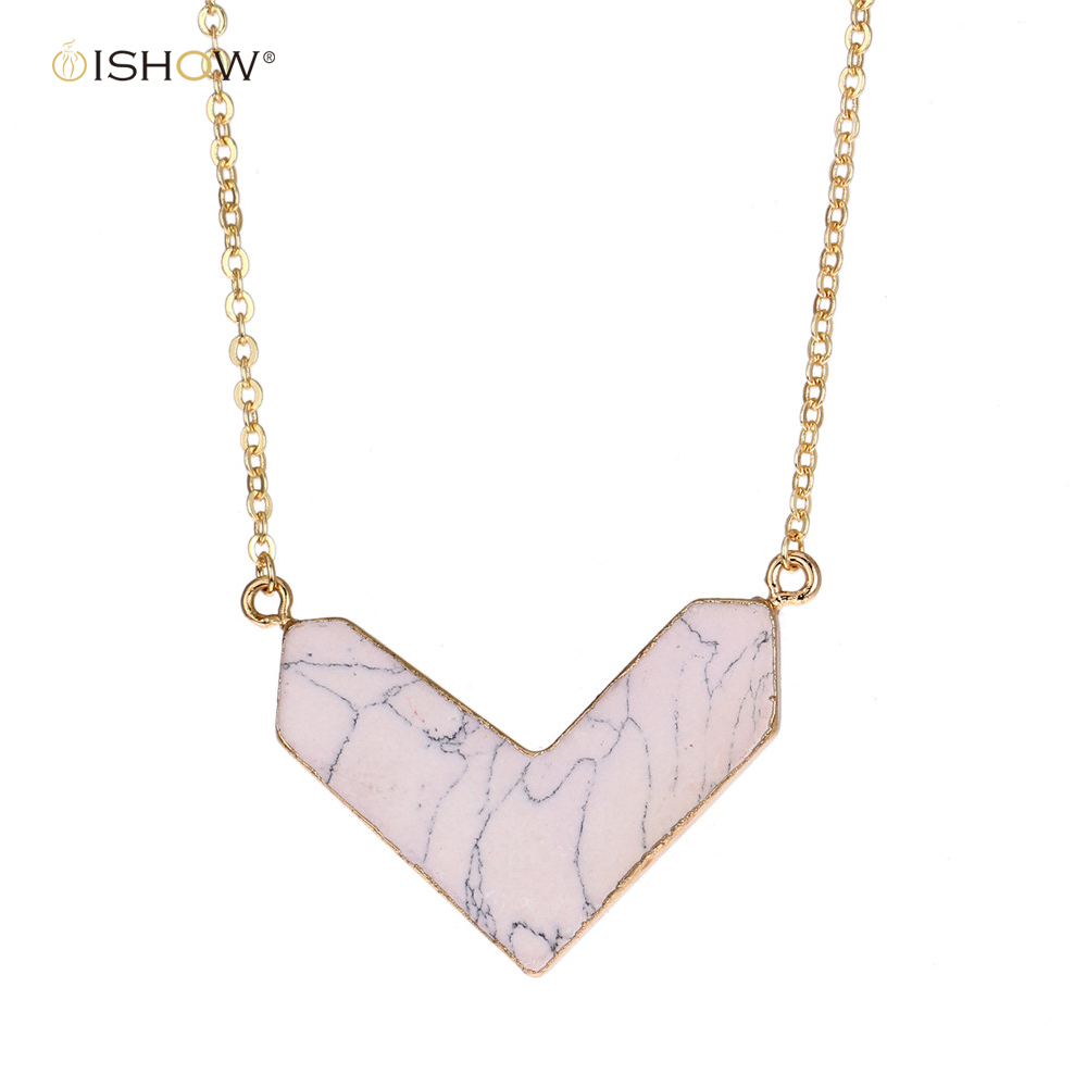 New pendants necklace long women white druzy texture choker golden new pendants necklace long women white druzy texture choker golden copper chain irregular wing jewelry angel gift collares mujer aloadofball Images
