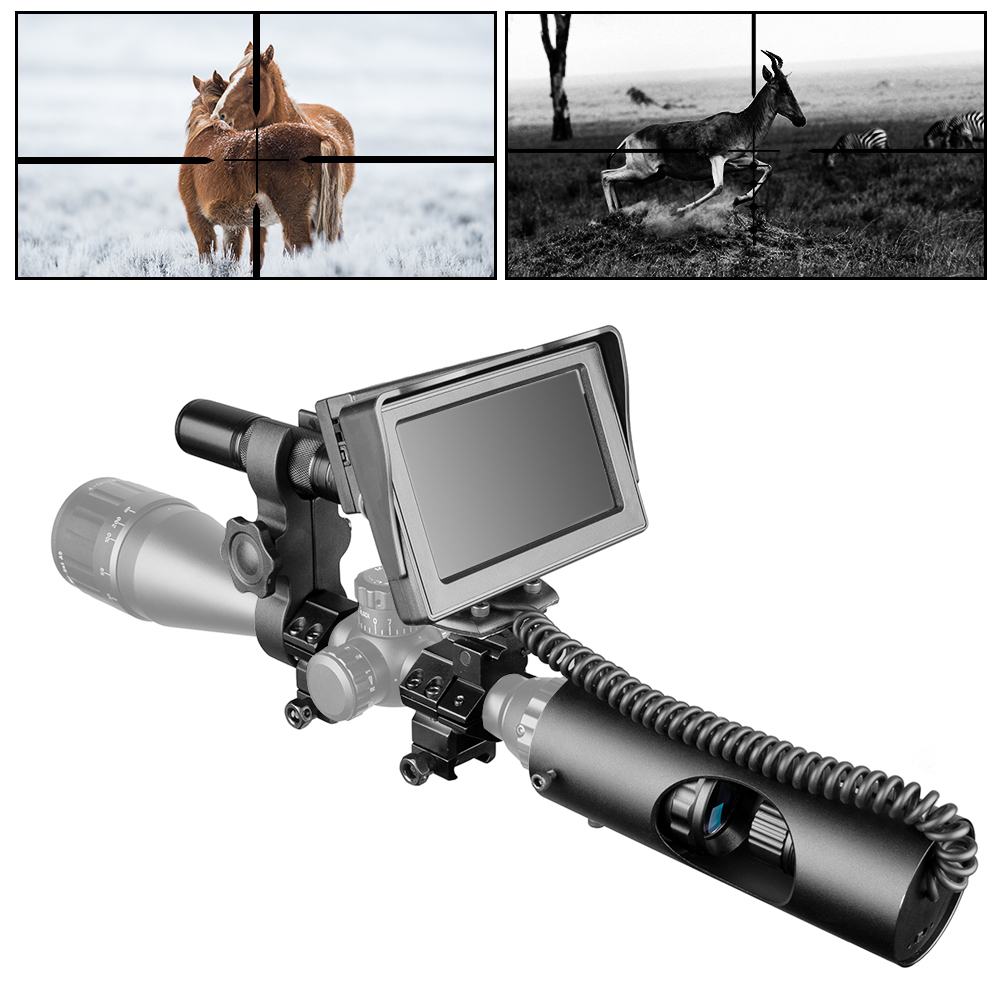 New Night Vision Riflescope Hunting Outdoor Scopes Optics Sight Tactical Day Night Mode Digital Infrared Monitor Fill Light