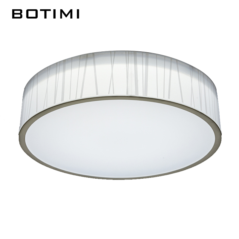 ФОТО BOTIMI Modern LED acrylic ceiling Light lamparas de techo surface mounted round lighting fixtures for Living room shipping free