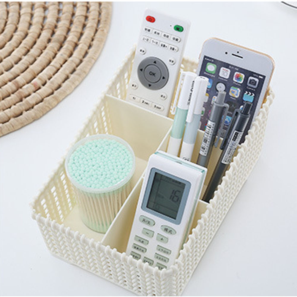 Four grids Plastic Makeup Organizer for Storage of Makeup Brush and Other Beauty Essentials Suitable for Home Office and College 5